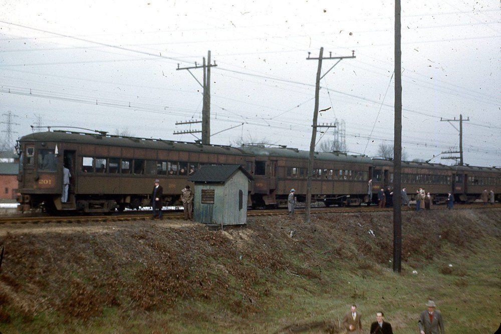 Baltimore & Annapolis Railroad Cars. Date: January 1950. Source: Unknown.