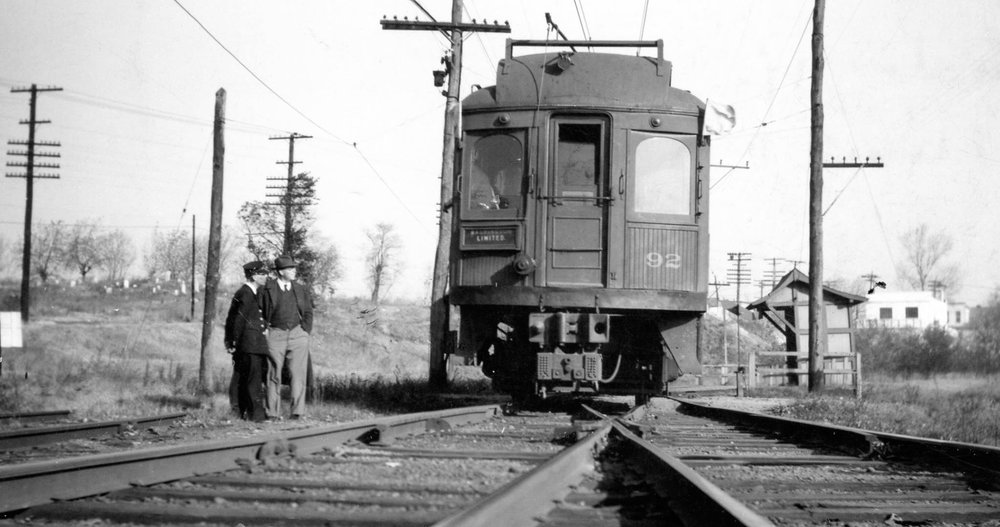 Baltimore & Annapolis Railroad Car #92 at Westport Station. Date: November 16, 1941. Source: Lee Rogers Collection.