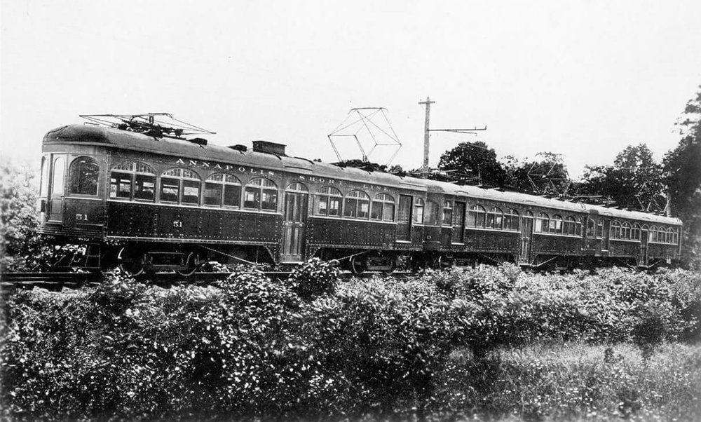 Annapolis Short Line Cars. Date: 1908. Source: Cecil Matthews Collection.