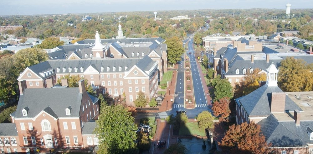 Looking down on where Bladen Street Station was, from the Maryland State House Dome. Annapolis, Maryland. Date: 2015. Source: Capital Gazette.