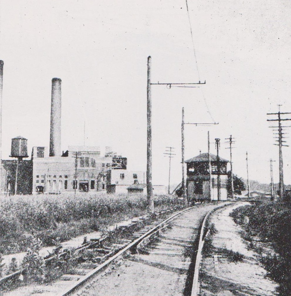 Annapolis Short Line - Single Track Construction. Date: 1908. Source: Traction Heritage.