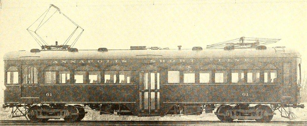 Annapolis Short Line Car #61. Date: 1915. Source: Electric Railway Journal, 1915.