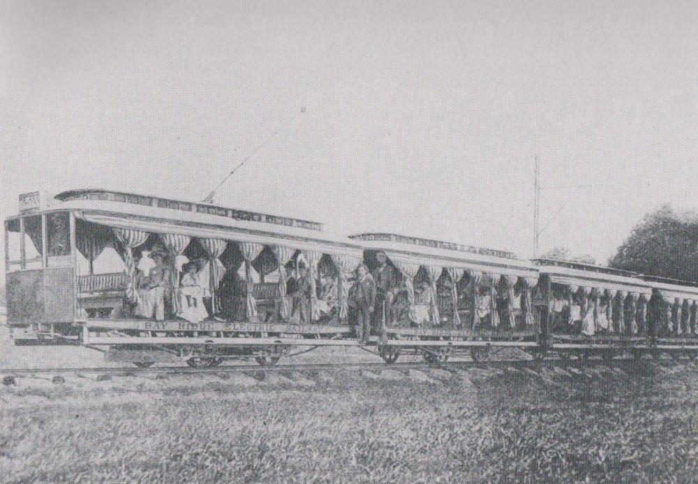 Bay Ridge Electric Railway opened in 1889. Bay Ridge, Maryland Date: Unknown. Source: National Railway Bulletin - 1981.