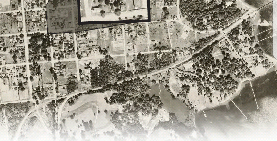 Aerial view of Wardour Station and West Annapolis. Date: 1930. Source: Unknown.