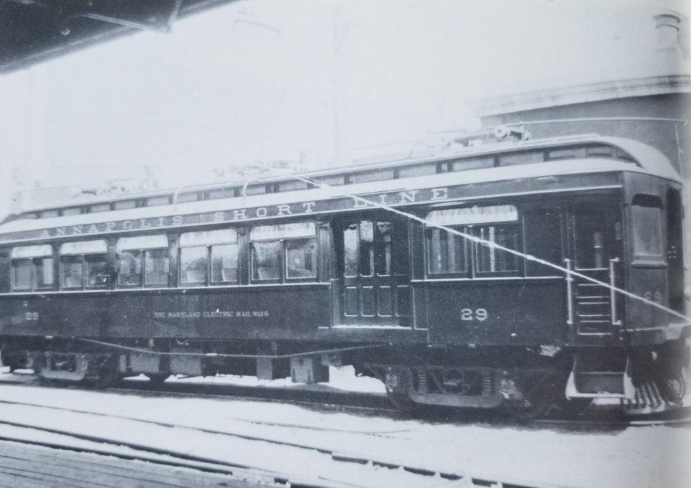 Annapolis Short Line Car #29. Date: Unknown. Source:John E. Merriken Collection.