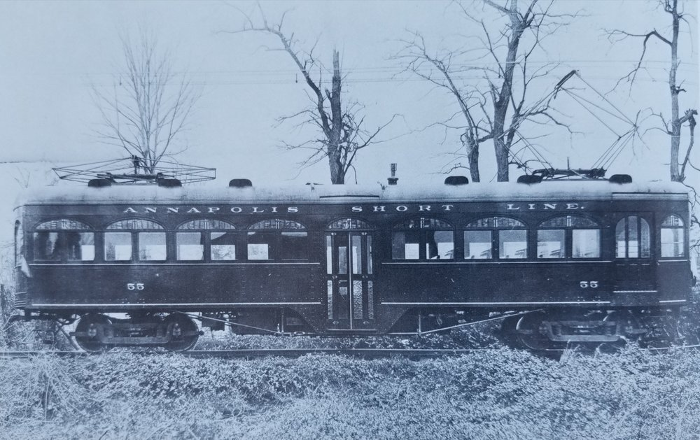 Annapolis Short Line Car #55. Date: Unknown. Source: Unknown.