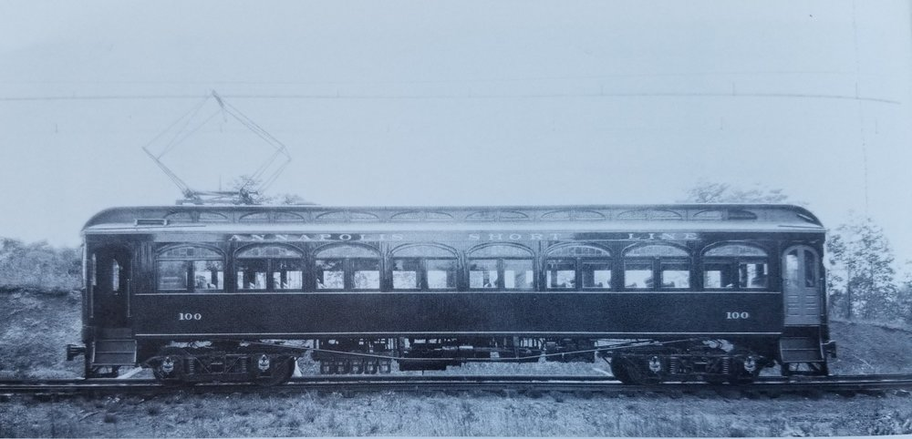 Annapolis Short Line Car #100. Date: Unknown. Source: Unknown.