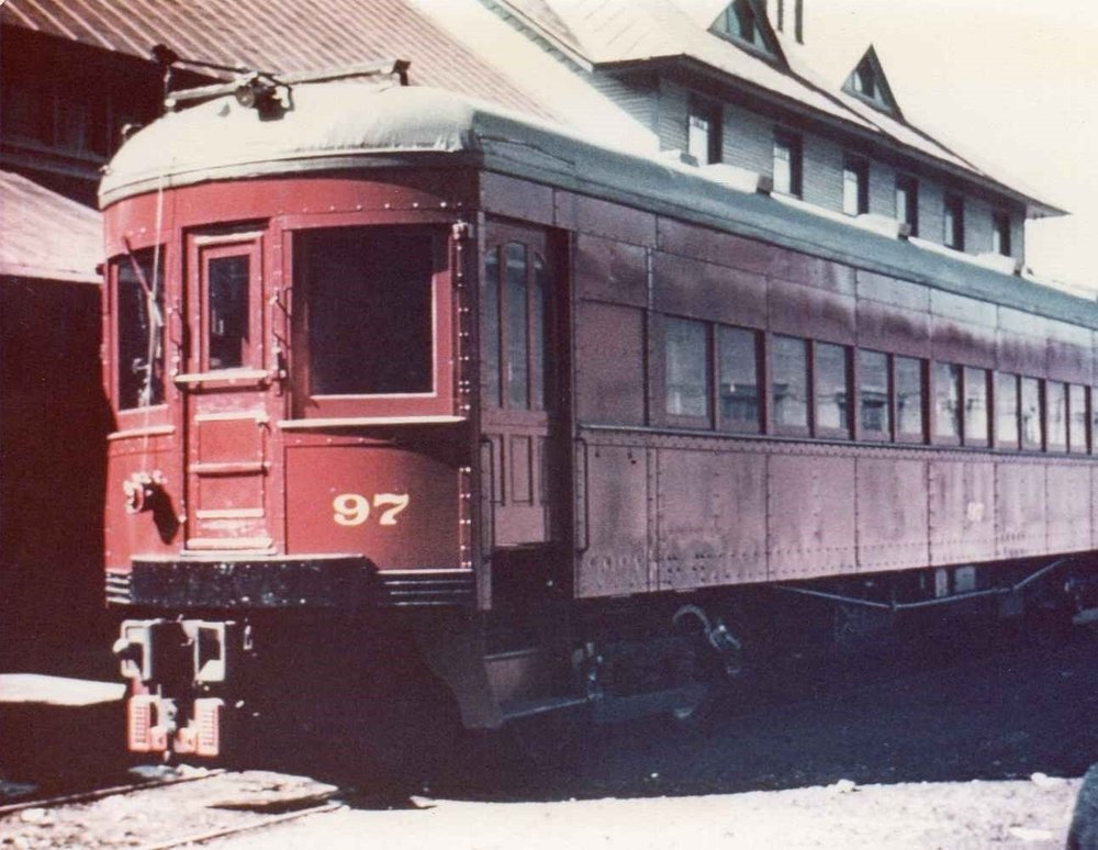 Baltimore & Annapolis Railroad Car #97 outside Bladen Street Station. Annapolis, Maryland Date: Unknown. Source: Unknown.