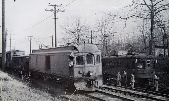 Baltimore & Annapolis Railroad Freight Motor 18. Date: January 1950. Source: R. W. Gibson Collection.
