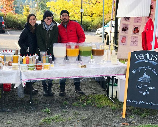 We're here! It's cold but we are staying warm with ginger shots and warming spices.  Come show your support!  Stay healthy our many immune boosting treats. Don't let this cold weather get you down!! 🌱❤️🍁 #local #farmersmarket #organic