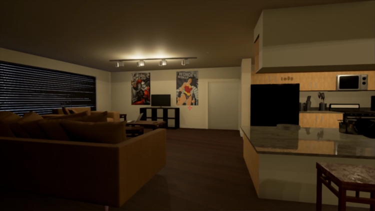Apartment1: A model of an apartment and one of NovaKitten's very first projects in Unreal