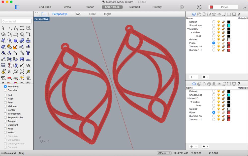 XL Designs in Rhino 3D Modeling Software