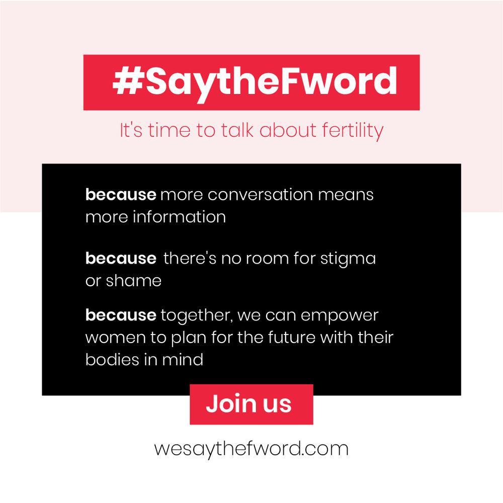 F for Fertility! #saythefword