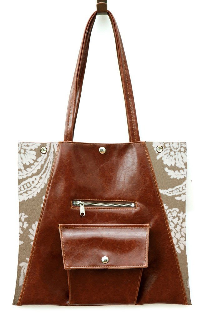 Limited Edition Vegan Leather and Vintage Textiles Metier Tote