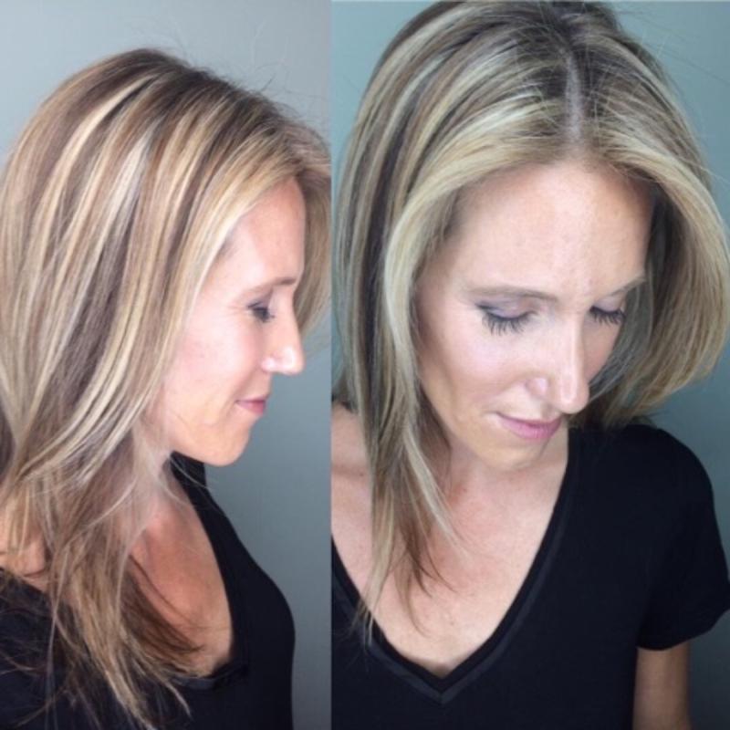 Hillary Loves Hair Salon Asheville NC Beautiful blended highlights hair color style Hair Stylist Hillary Small