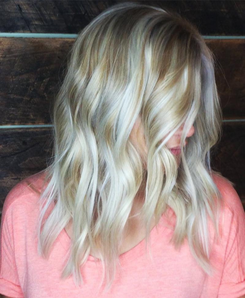Hillary Loves Hair Salon Asheville NC Amazing blonde transformation Olaplex Treatment Hair Stylist Hillary Small