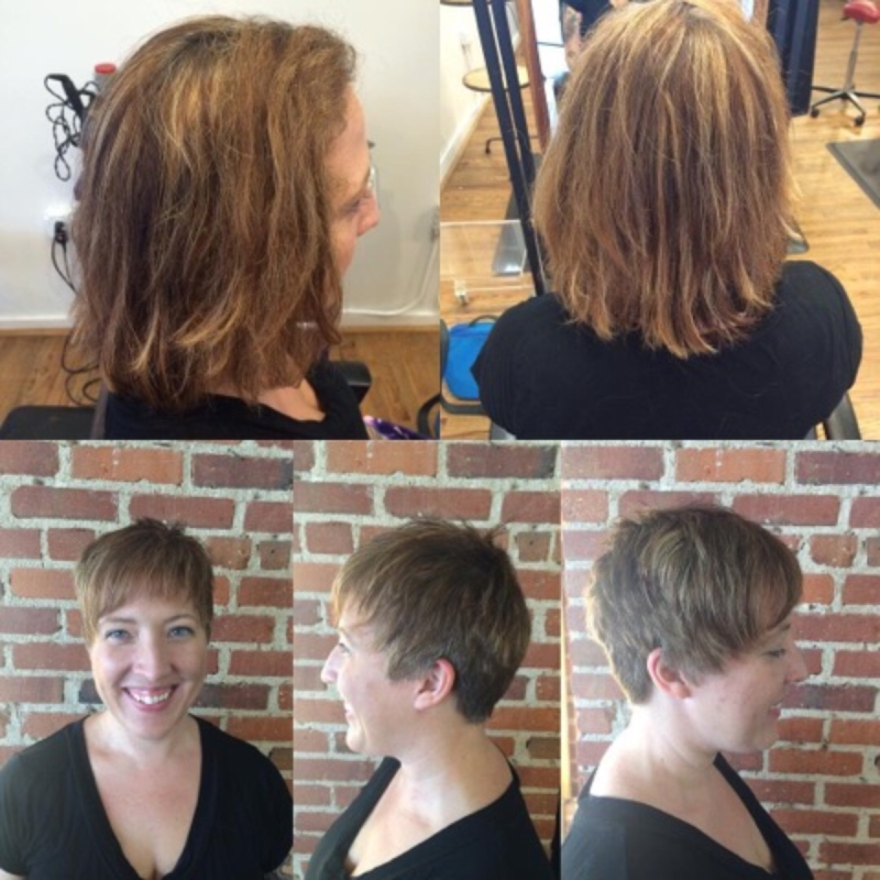 Hillary Loves Hair Salon Asheville NC Color Cut Style Huge Transformation Great Results Hillary Small