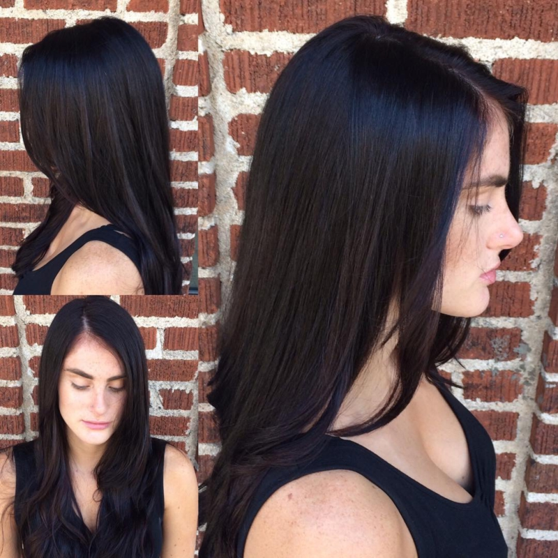 Hillary Loves Hair Salon Asheville NC Color Cut Style Dark Chestnut Transformation Hillary Small