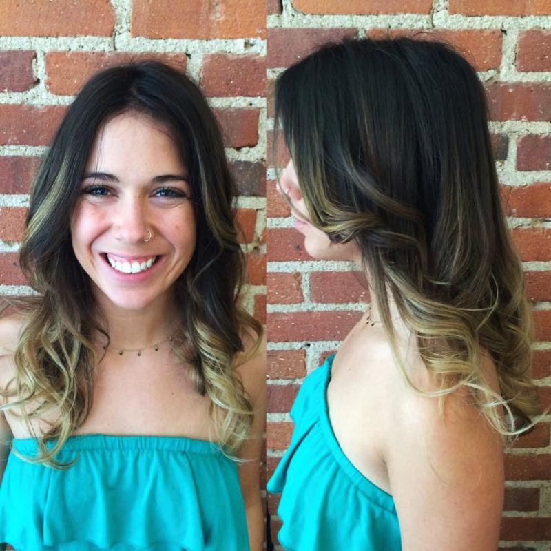 Hillary Loves Hair Salon Asheville NC Hair Color Cut and Style ombre' Hair Stylist Hillary Small