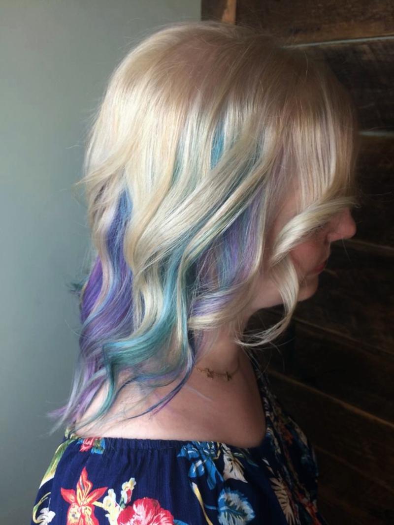 Hillary Loves Hair Salon Asheville NC Hair color process pravana vivids vivid colors Hillary Small