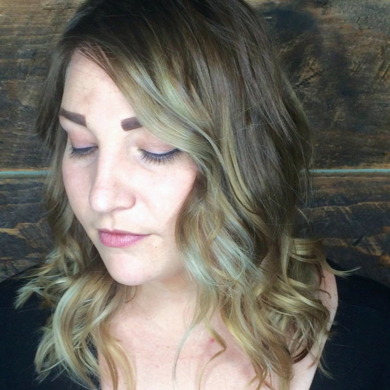 Hillary Loves Hair Salon Asheville NC hair color soft sombre' style blow dry Hair Stylist