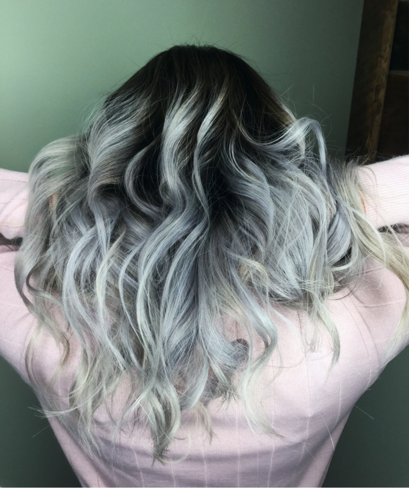 Hillary Loves Hair Salon Asheville NC Hair Color Silver Smoke Transformation Loved it Guy Tang #mydentity