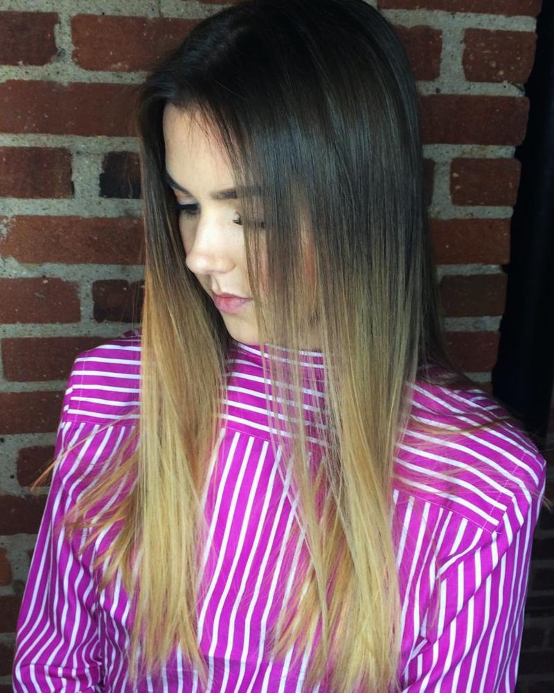Hillary Loves Hair Salon Asheville NC Hair color Sombre' Hair Cut Hair Stylist Hillary Small