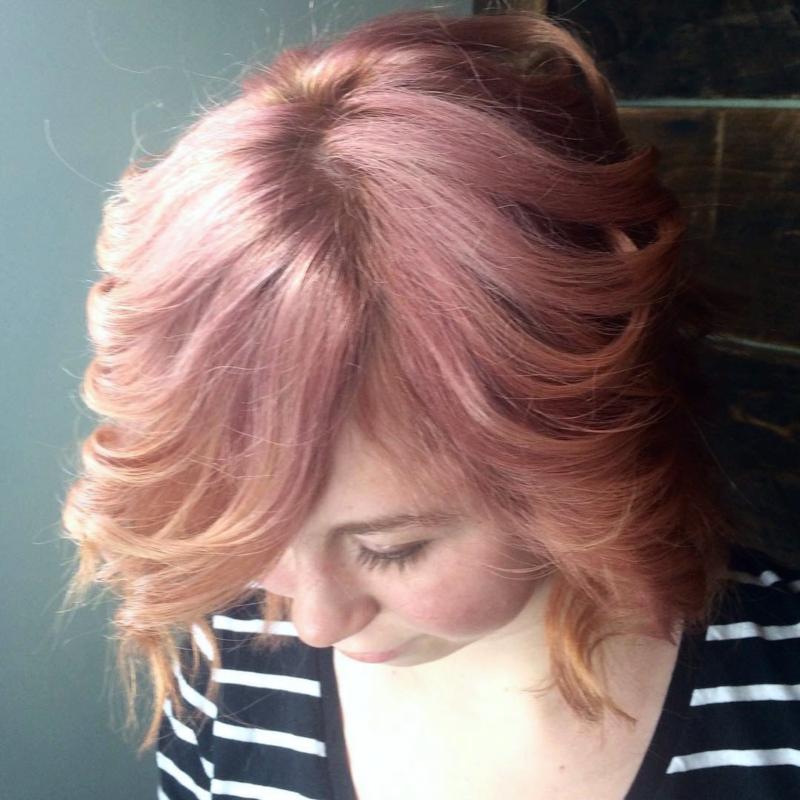 Hillary Loves Hair Salon Asheville NC Hair color vivid dusty rose loved it brilliant hair color