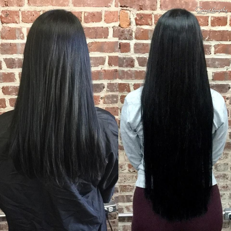Hillary Loves Hair Salon Asheville NC Great Lengths hair extensions Keratin Bonds Hair Stylist Hillary Small