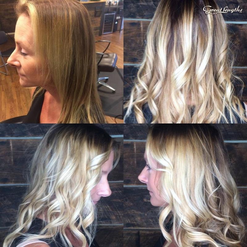 Hillary Loves Hair Salon Asheville NC Great Lengths Hair Extensions Keratin Bond Hillary Small