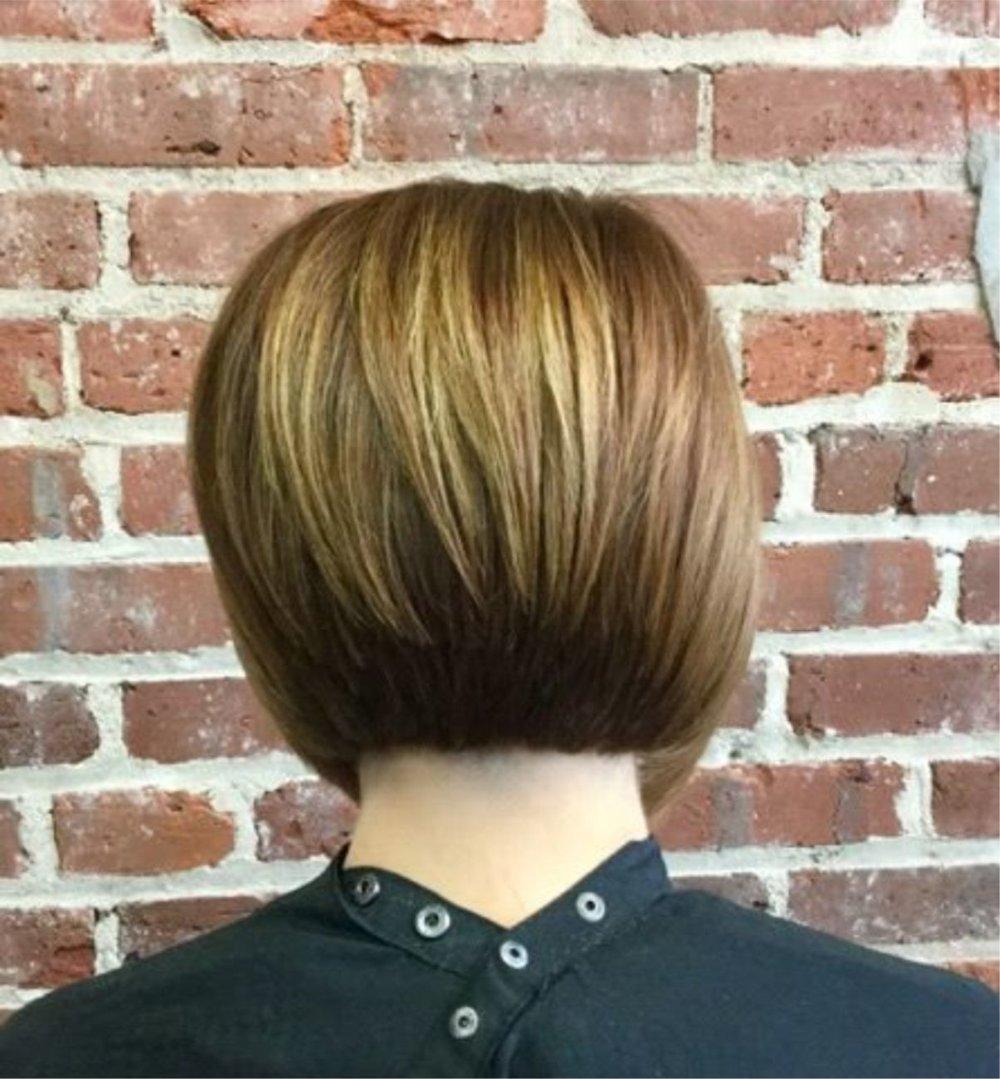 Hillary Loves Hair Salon Asheville NC Short Clean Cut with Color Razor Cut Hair Stylist