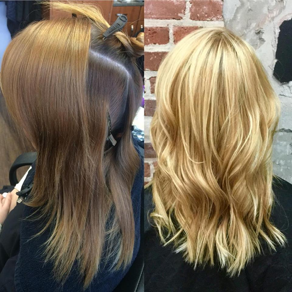 Hillary Loves Hair Asheville NC Olaplex Hair Color Transformation