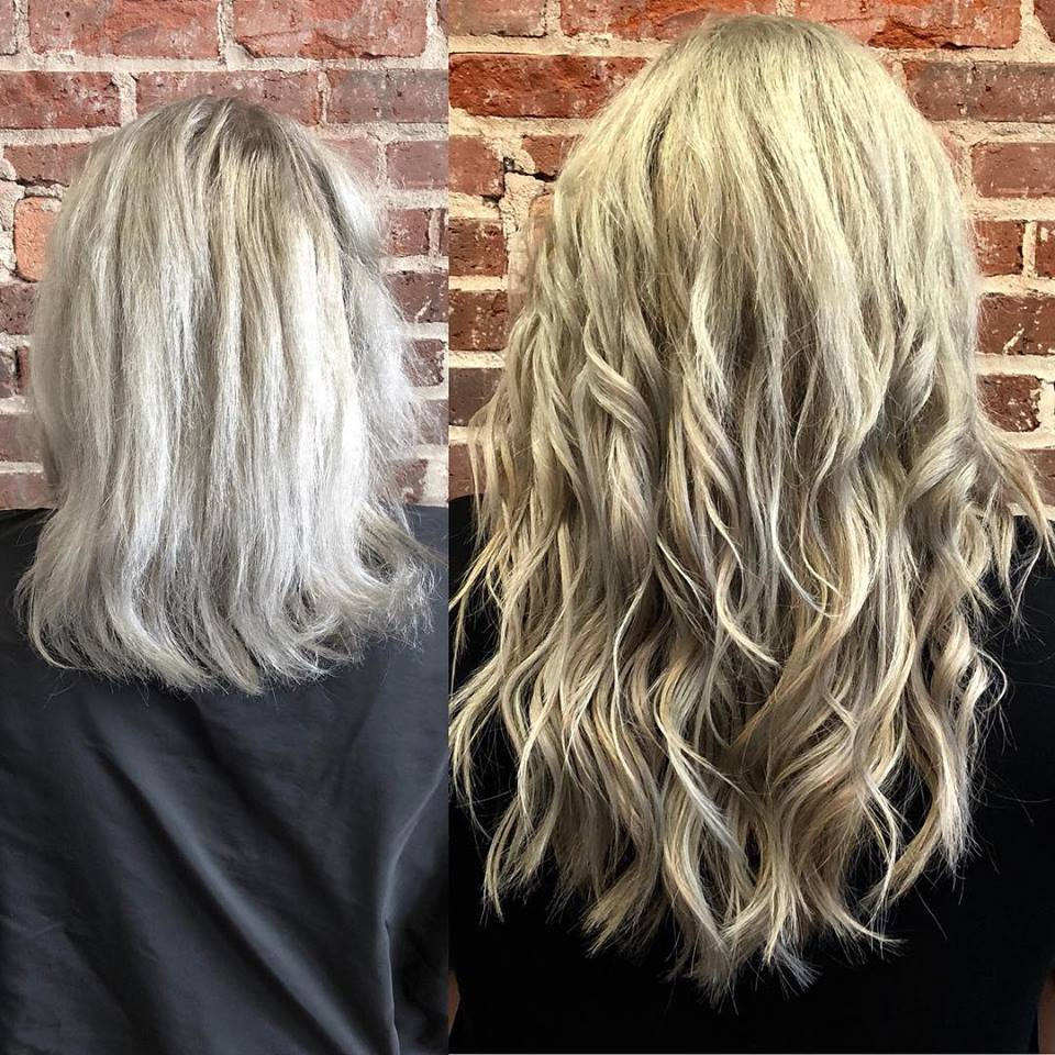 Hair Extensions Asheville NC Extra Length Keratin Bonds