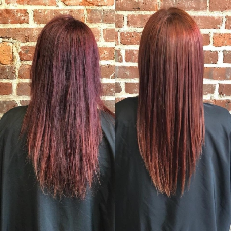 Hillary Loves Hair Salon Asheville NC Peter Coppola Keratin Treatment Straight Hair