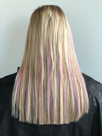 Asheville Hair Extensions Hillary Small Extra Length Beautiful Vivid Colors