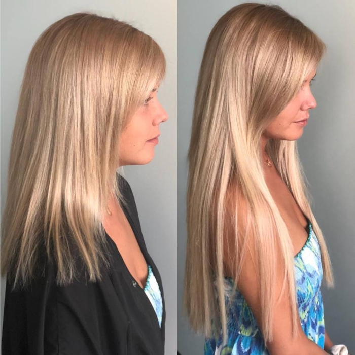 Hair Extensions More Length Color Cut Hair Salon