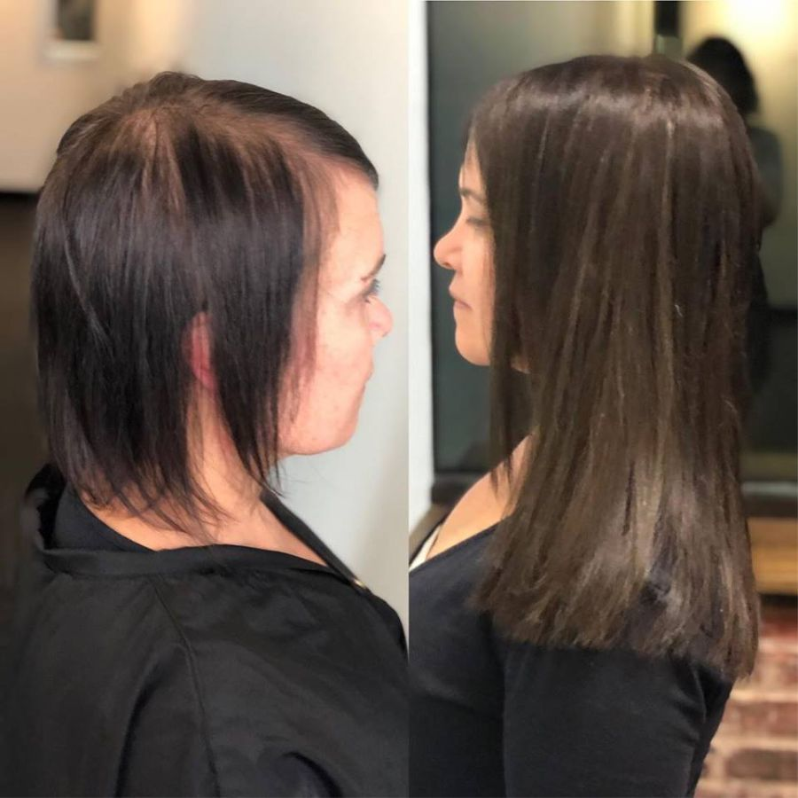 Asheville NC Hair Extension Transformation Great Lengths