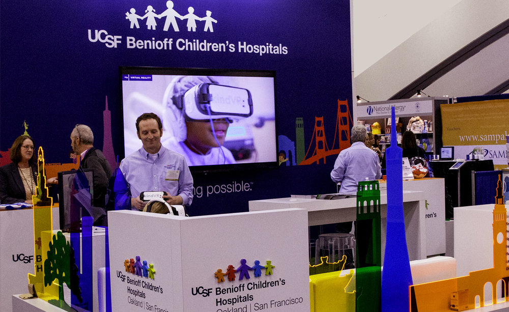 American Academy of Pediatrics - KindVR provides hundreds of demonstrations of VR therapy at medical conferences across the US. (Photo from AAP2016)