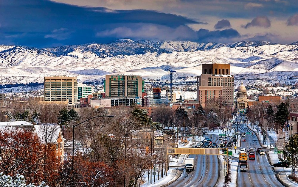 My Home Town - Nature is a big part of Boise, Idaho. The snow-capped Rocky Mountains serve as a backdrop, the Boise River and its riverfront paths wind through the city and skiing is a short drive away.