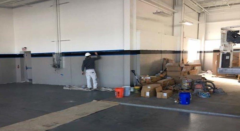 Finish paint underway 3/28/18
