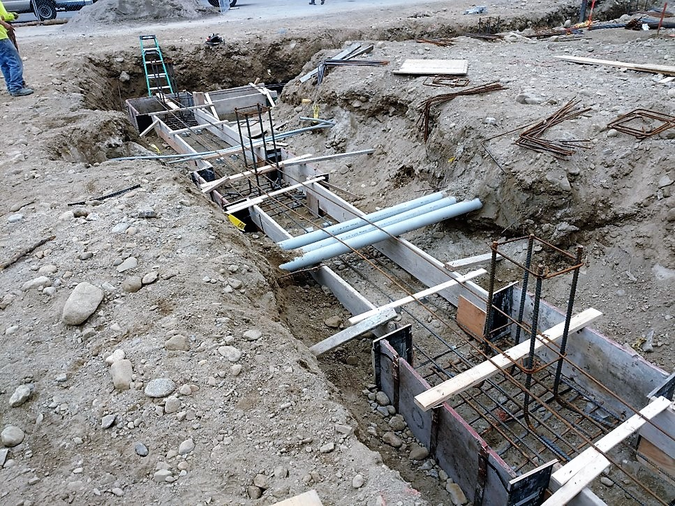 Forming footing and piers