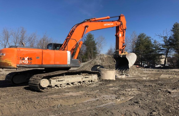 3-28-19 Removing Existing Underground Storm Structures in Phase 1 Foundation Dig  .jpg