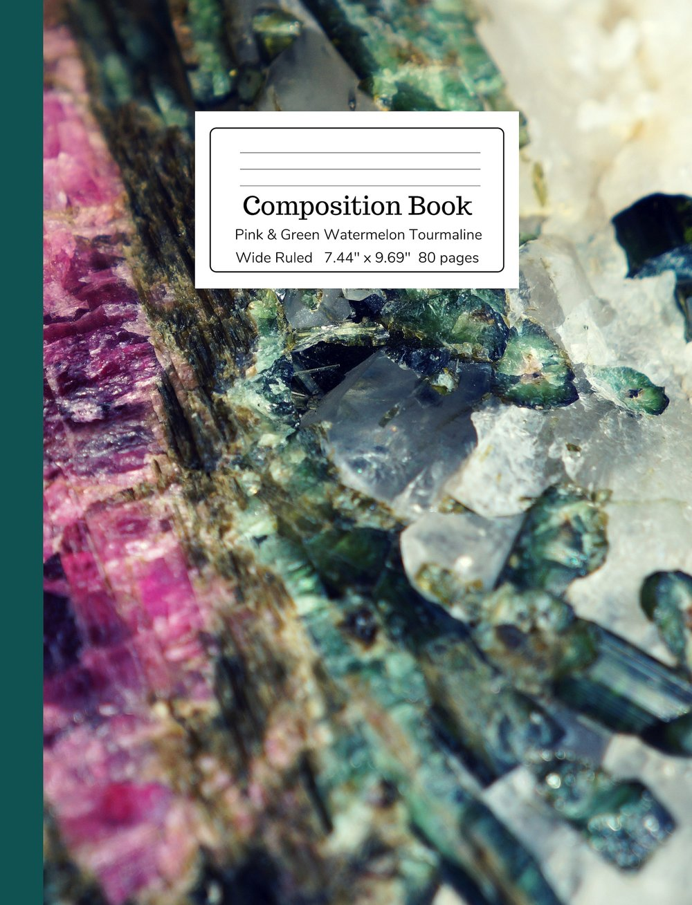 Pink & Green Watermelon Tourmaline Composition Book