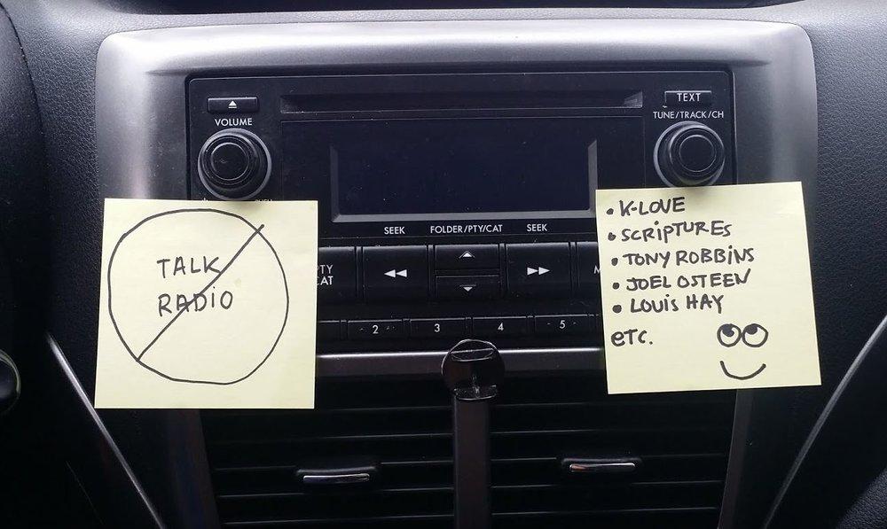 post its on dashboard.JPG