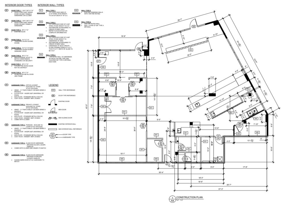 Sample layout drawing