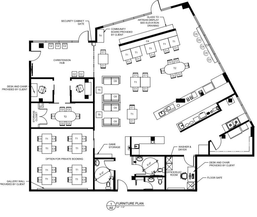 Sample furniture plan.