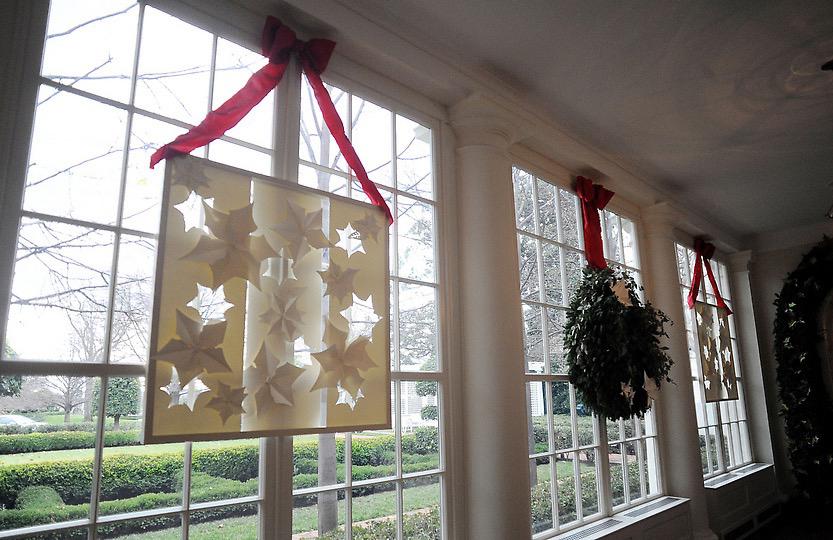 White House Christmas 2011-2014 Paper Poinsettia Frames