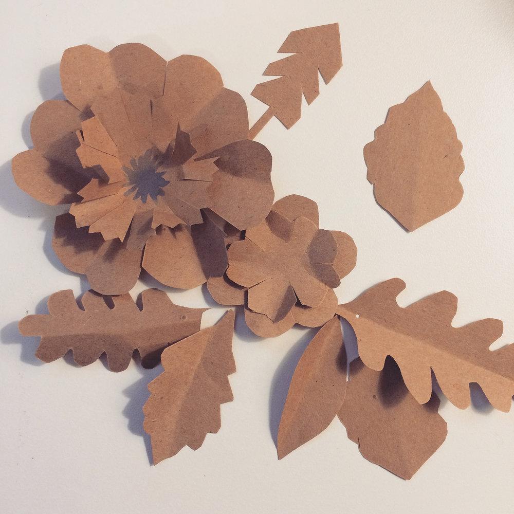 handmade kraft paper flowers