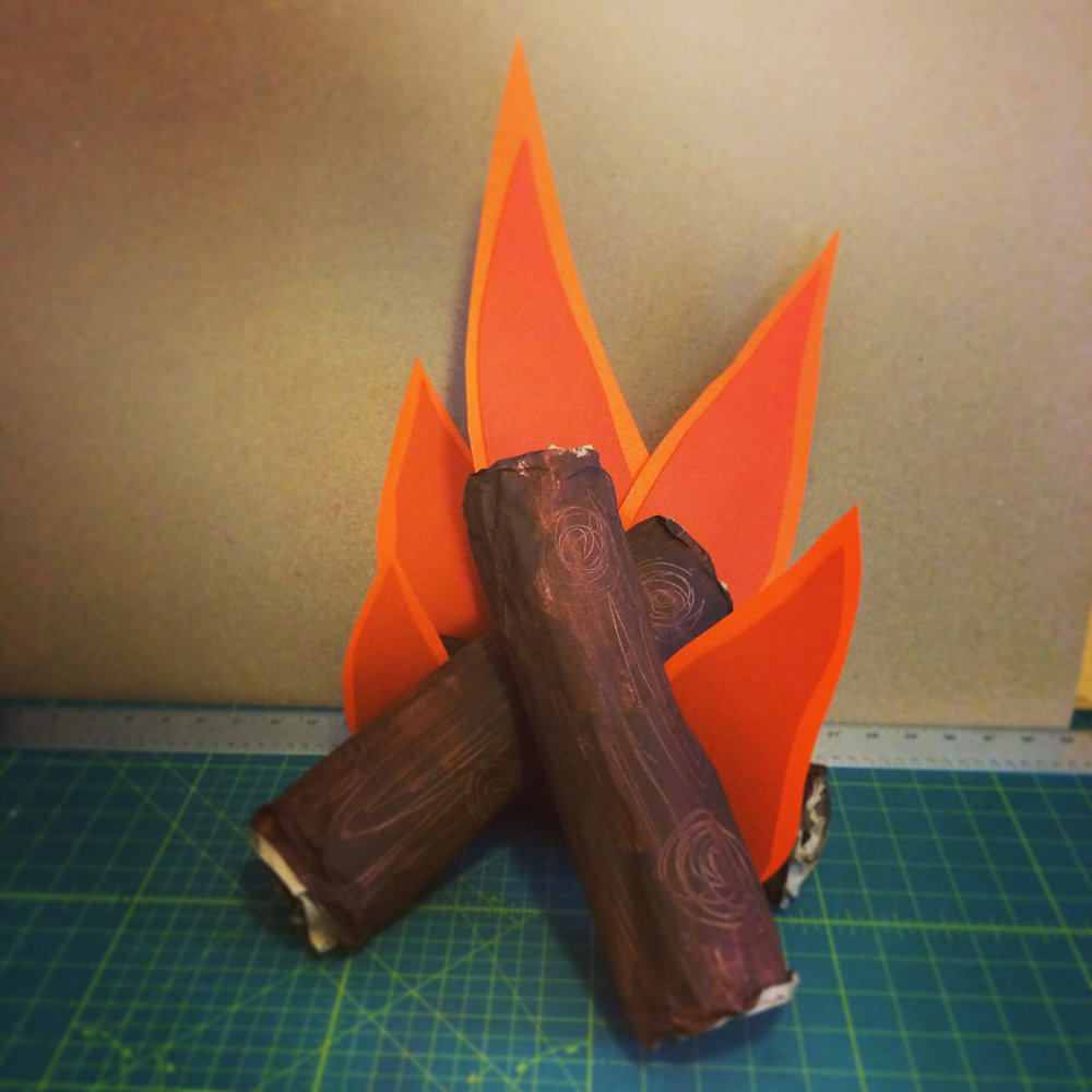 paper campfire
