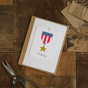 Greeting cards letterspace handmade by jami darwin courage talisman handmade greeting card with removable tag m4hsunfo